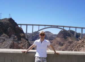 Hoover Dam, Between 2 States, USA