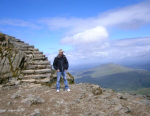 Admiring The Views From Mount Snowdon's Summit, Wales